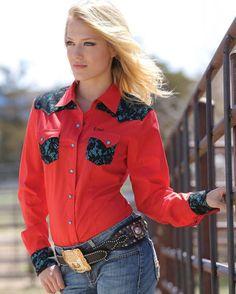 CRUEL GIRL RODEO Western Barrel ARENA Performance Red SHIRT COWGIRL NWT XS #CruelGirl #Western