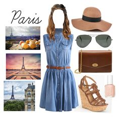 """""""Paris 2"""" by elizabeth-xsomosmasqueamorr ❤ liked on Polyvore featuring Delicious, Mulberry, Essie, Ray-Ban, Reiss, Lonely Planet, paris and favoritecity"""