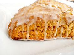 Pumpkin Scones with Spiced Glaze Recipe