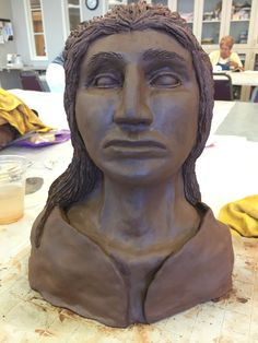 First time sculpture by Jim Ward amazing work!  Made in Highlands Sculpture Class 2016.