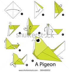 stock-vector-step-by-step-instructions-how-to-make-origami-a-bird-380406952.jpg (450×470)