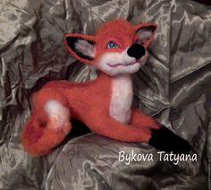 Купить Рыжий лис Людвиг валяная игрушка - рыжий, подарок, подарок на любой…