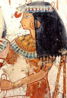A beautiful and richly dressed woman from the tomb of Menna on the West Bank of modern Luxor