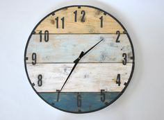 Zegar ze starych desek - marynistyczny - śr. 60cm - OLDTREE - Zegary