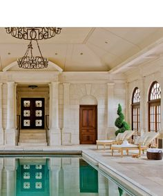 I don't normally like indoor pools, but I love this one! Just call James to fetch me a cocktail!.