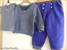 16-Ensemble pantalon bleu klein à pont15