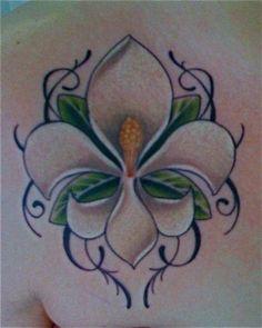 1122724bf05ea Magnolia fleur de lis | Tattoo Fluer De Lis Tattoo, Back Tattoos, New  Tattoos