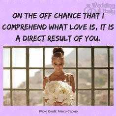 www.weddinganditaly.com Romantic Quotes, What Is Love, Photo Credit, One Shoulder Wedding Dress, Wedding Dresses, Movie Posters, Movies, Bride Gowns, 2016 Movies