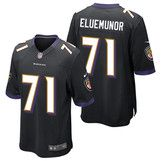 Baltimore Ravens Alternate Game Jersey - Jermaine Eluemunor