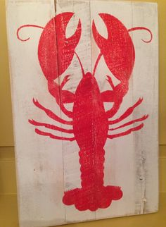 Lobster Pallet Sign by designsatdaybreak on Etsy, $19.00