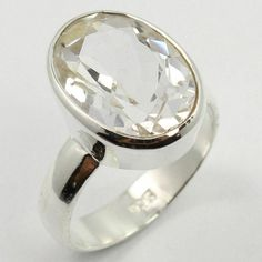 Started in SUNRISE JEWELLERS (Indian Silver Jewellery Us has flourished into one of the top manufacturers & exporters for gemstone studded silver jewelry & Sterling silver jewelry without gemstones. Quartz Ring, Quartz Crystal, Crystal Ring, Silver Jewellery Indian, Sterling Silver Jewelry, Gemstones, Crystals, Men's Fashion, Jewels