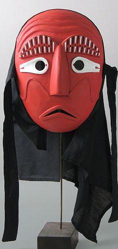 Red Pyeolsandae Mask Gyeonggi Province, Korea