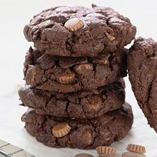 Chocolate peanut butter cookies recipe from King Arthur Flour