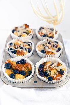 Blueberry Basil French Toast Cups - Broma Bakery