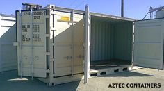 Aztec Containers: 20 foot open sided container