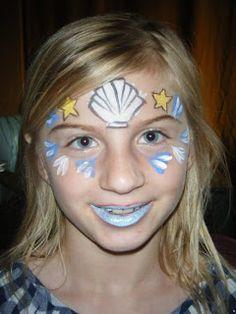 mermaid face paint design