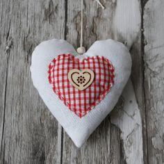 """Or /& rouge coeurs tissu de coton matériau de Noël Coeur Toile Large 55/"""""""