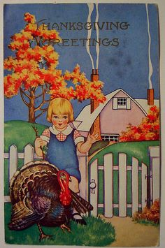 A Thanksgiving Entertaining Guide with vintage cards, local foods and healthy recipes.