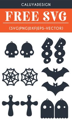 Free Halloween Earring SVG, PNG, EPS & DXF by Caluya Design. Compatible with Cameo Silhouette, Cricut and other major cutting machines!Perfect for your DIY projects, Giveaway and personalized gift. Perfect for Planner customization! Free Printable Clip Art, Stylo 3d, Free Svg, Gravure Laser, How To Make Planner, Diy Leather Earrings, Adornos Halloween, Do It Yourself Wedding, Cricut Tutorials