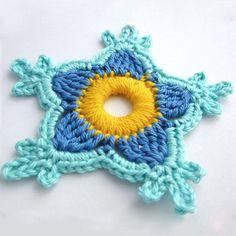 Paradise flower free crochet pattern