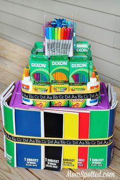 School Supply Cake Tutorial #StaplesBTS