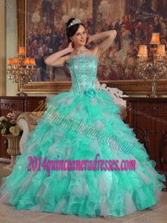 f487030839c Buy sexy lime green strapless organza quince dress with applique and  ruffles from lime green quinceanera dresses collection
