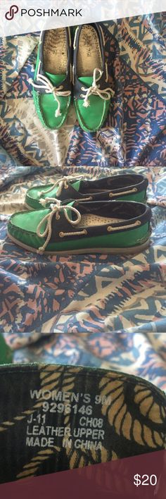 Sperry Navy Blue and Green Sperry Sperry Shoes