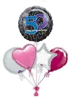 """Mark the special day with wonderful """"A Time To Party birthday balloon delivery or balloon bouquets. Fabulous helium filled birthday balloons by post delivered by free balloon delivery. Birthday Balloon Delivery, 60th Birthday Balloons, 65th Birthday, Balloon Gift, Balloon Bouquet, Christmas Ornaments, Party, Pink, 30th"""