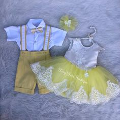 Handmade boys yellow birthday suit set, shorts set, birthday out, smash cake set, handmade Boy Girl Twin Outfits, Boy Girl Twins, Kids Outfits, Pageant Dresses, Girls Dresses, Flower Girl Dresses, Boys First Birthday Shirt, Pink And Gold Dress, Yellow Birthday