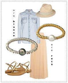 Pulseras oro blanco/rosa con perlas tahití  http://shop.montejojoyeros.es