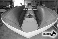 Billfish 27 currently under construction....this boat is going to be AMAZING! Debut in November! Can't wait! www.billfishboats.com