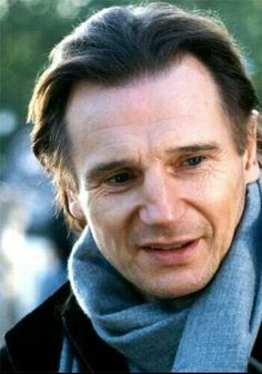 Liam Neeson in Love Actually. The movie I realized Liam Neeson, though he's over twice my age, is so devilishly handsome.