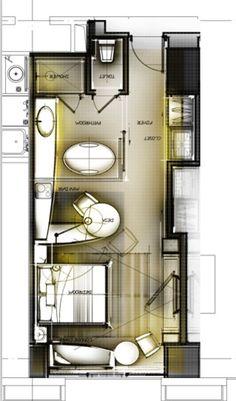 平面彩图 Orange Things is orange juice vegan The Plan, How To Plan, Design Hotel, Hotel Floor Plan, Planer Layout, Deco Studio, Hotel Interiors, Room Planning, Hotel Suites