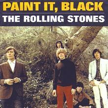 """""""Paint It, Black"""" was written by the songwriting partnership of Mick Jagger and Keith Richards of The Rolling Stones, and first released as a single on 6 May It was later included as the opening track to the U. version of their 1966 album, Aftermath. The Rolling Stones, Rolling Stones Songs, Rolling Stones Album Covers, Rock N Roll, Rock & Pop, Black Queen, Stupid Girl, Charlie Watts, Pochette Album"""