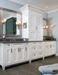 Cabinets between sinks