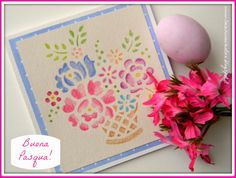 Un cesto di fiori per Pasqua