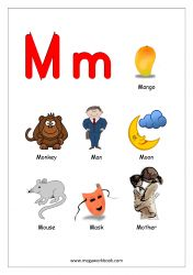 Free Printable English Worksheets - Alphabet Reading (Letter Recognition And Objects Starting With Each Letter) - MegaWorkbook Alphabet Words, Alphabet Pictures, Alphabet Charts, Alphabet Worksheets, Alphabet Activities, Printable Alphabet, Free Printable, Alphabet Phonics, Teaching The Alphabet