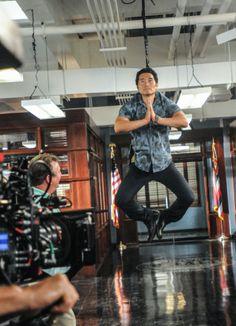 Hawaii Five-0 Photos: Chin Ho Levitating Behind the Scenes in the Season Premiere of Hawaii Five-0 on CBS.com