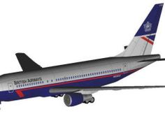 British Airways Boeing B767-200 Free Airplane Paper Model Download