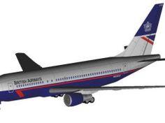 British Airways Boeing B767-200 Free Airplane Paper Model Download