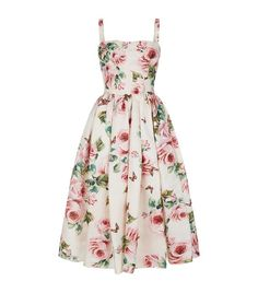 Dolce & Gabbana Silk Floral Dress available to buy at Harrods.Shop clothing online and earn Rewards points. Cute Dresses, Beautiful Dresses, Casual Dresses, Cute Outfits, Formal Dresses, Floral Dress Outfits, Silk Floral Dress, 1950s Fashion Dresses, Fashion Outfits