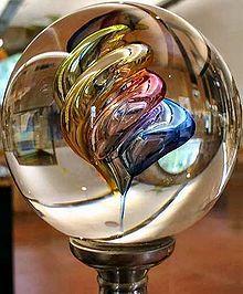 A glass ball from Verreries de Bréhat