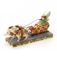 Good Tidings in Toe-Fairy in Shoe Sleigh Figurine