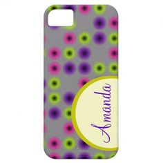 Blurry dotted Trendy Patterns Iphone Monogram