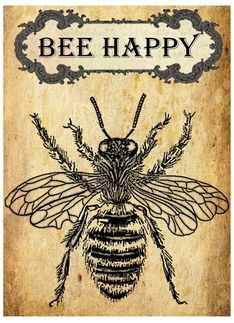 Bee Happy Inspirational Vintage card greetingcarduniverse.com