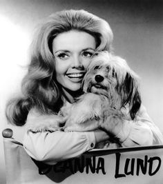 Deanna Lund and 'Chipper' the dog.