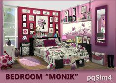 Monik bedroom - The Sims 4 Catalog Sims 4 Teen, Sims 4 Toddler, Sims Cc, Toddler Bed, Sims 4 Bedroom, Bedroom Red, Bedrooms, Casas The Sims Freeplay, Sims 4 Controls