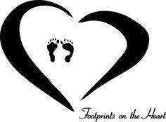 Clip Art Footprint Heart Clipart