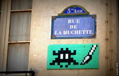 https://flic.kr/p/rSf93y | Invader - PA_874 | Invaders in Paris! ----------------------------------- PA-874 - Rue de la Huchette