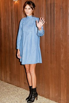 Alexa Chung x AG Collection launch party on January 22, 2015